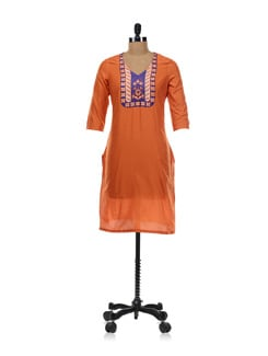 Stylish Orange Kurta - Aurelia