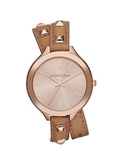 Michael Kors Runway MK2299 Leather Watch -  online shopping for Wrist watches