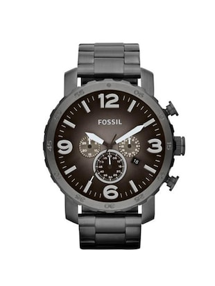 Fossil Nate JR1437 Men's Chronograph Stainless Steel Watch -  online shopping for Chronograph Watches