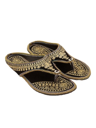 black ethnic sandal -  online shopping for sandals