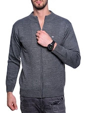 grey acrylic pullover -  online shopping for Pullovers