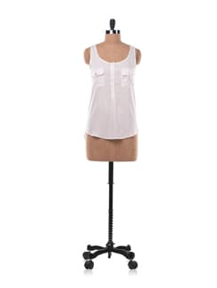 White Sleeveless Top - Chemistry