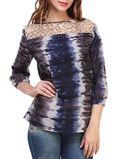 multi coloured georgette regular top -  online shopping for Tops