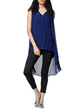 blue georgette tunic -  online shopping for Tunics