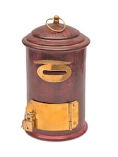Brown Wooden Letter Box Money Bank - By