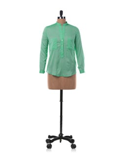 Green Cotton Shirt With Pockets - Chemistry