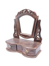 Brown Wooden Mirror Drawer - By
