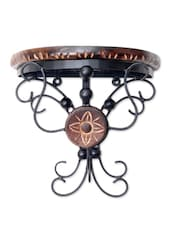 Brown Wooden Rangoli Wall Bracket - By