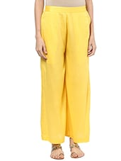 yellow rayon palazzos -  online shopping for Palazzos