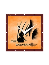 Multicolor Engineering Wood The Wolverine Wall Clock - By