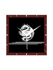 Multicolor Engineering Wood The Dragon Wall Clock - By