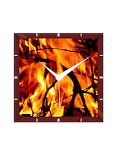 Multicolor Engineering Wood The Fire Wall Clock - By