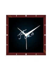 Multicolor Engineering Wood Just Live Wall Clock - By