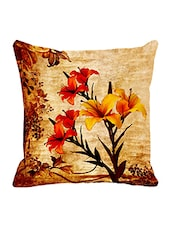 Leaf Designs Ochre Vintage Cushion Cover - By