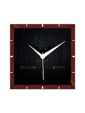 Multicolor Engineering Wood Sword In The Darkness Wall Clock - By
