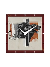 Multicolor Engineering Wood House Stark Wall Clock - By