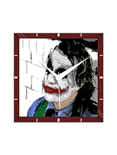 Multicolor Engineering Wood Joker's Style Wall Clock - By