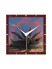 Multicolor Engineering Wood Nine Tail Fox Wall Clock - By