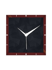 Multicolor Engineering Wood Black Texture Wall Clock - By