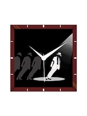 Multicolor Engineering Wood Michel Jackson Wall Clock - By