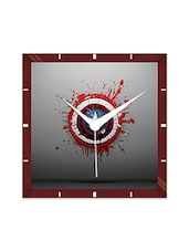Multicolor Engineering Wood Captain America Shield Wall Clock - By