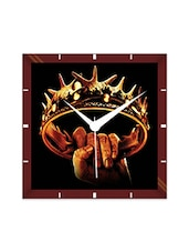 Multicolor Engineering Wood Game Of Thrones Crown Wall Clock - By