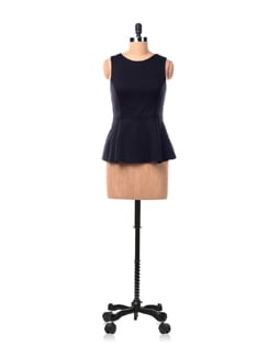 Black Peplum Top - Chemistry
