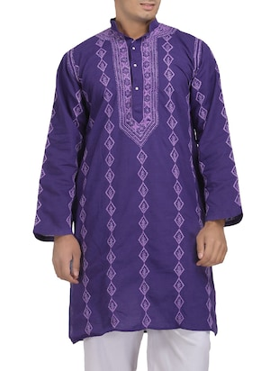 purple cotton kurta