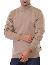 beige acrylic pullover -  online shopping for Pullovers