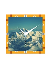 Multicolor Engineered Wood Mount Everest Wall Clock - By