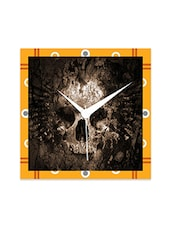 Multicolor Engineered Wood Amazing Skull Wall Clock - By