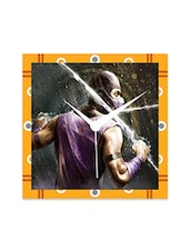 Multicolor Engineered Wood Mortal Kombat Wall Clock - By