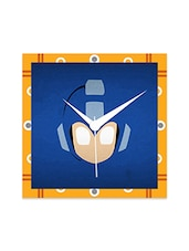 Multicolor Engineered Wood BlueMega Man Wall Clock - By