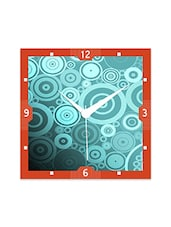 Multicolor Engineered Wood Abstract Circle Wall Clock - By