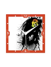 Multicolor Engineered Wood Bob Marley Awesome Print Wall Clock - By
