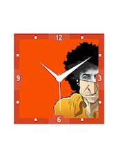 Multicolor Engineered Wood Realstic And Graphic Combo Wall Clock - By