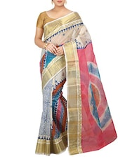 Multicolored Cotton Printed saree -  online shopping for Sarees