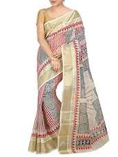 Multicolored Cotton handloom saree -  online shopping for Sarees