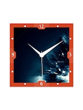 Multicolor Engineered Wood Frostic Illusion Wall Clock - By