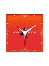 Multicolor Engineered Wood King Of POP MJ Wall Clock - By