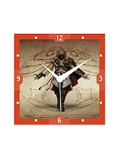 Multicolor Engineered Wood Assassin's Creed Wall Clock - By