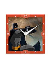 Multicolor Engineered Wood Batman Shuting With Gun Wall Clock - By