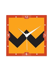Multicolour Engineered Wood Minimalist Background Wall Clock - By