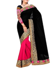 black georgette saree -  online shopping for Sarees