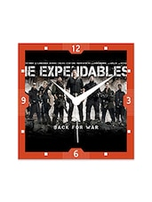 Expendables 2 Detailed Wall  Clock - By