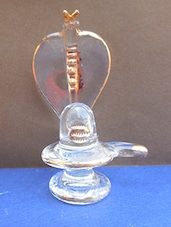 golden polished shivling in glass handicraft -  online shopping for Figurines