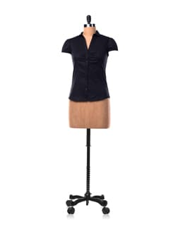 Black Cotton Shirt With Short Sleeves - Chemistry