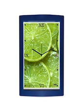 Green Lemon Detailed Wall Clock - By