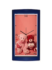 Teddy Bear Pair Detailed Wall Clock - By
