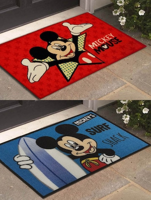Disney- Athom Trendz- Mickey and Mouse- Small Doormat- 40X60 Set of 2 Door Mats